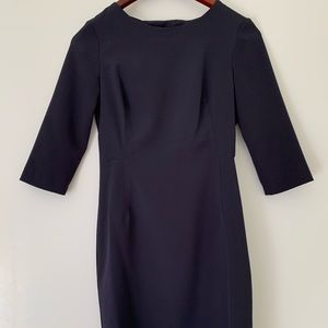 Navy blue dress from Zara